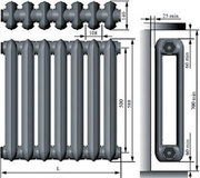 Радиатор чугунный МС-140 7 секций. Звоните! Наличие и низкие цены!